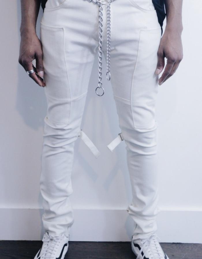 Mercy Denim White Panel Jeans
