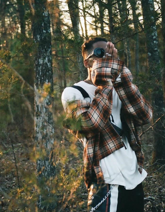 Mercy Plaid Crop Jacket with Leather Holster