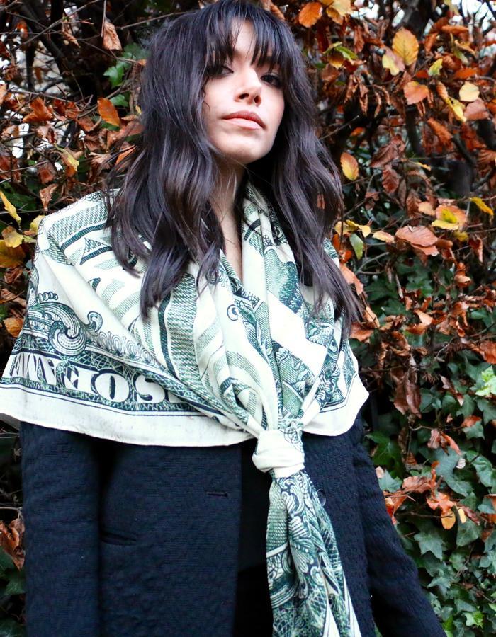 """alt=""""Marlow London silk Dollar scarf"""""""