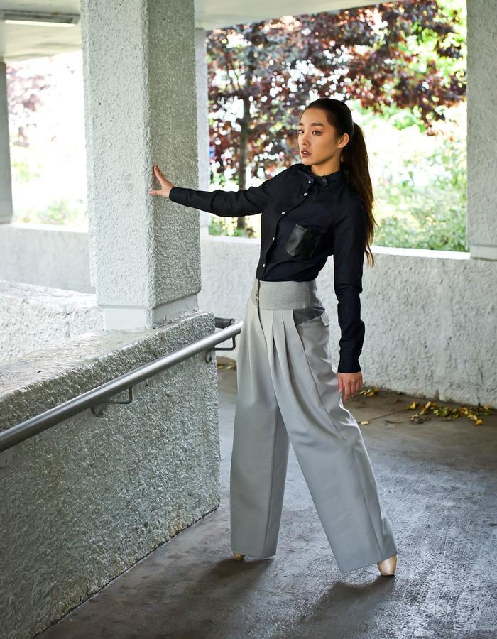 Van Jos womens business wear Amsterdam - 3 shades of grey pants
