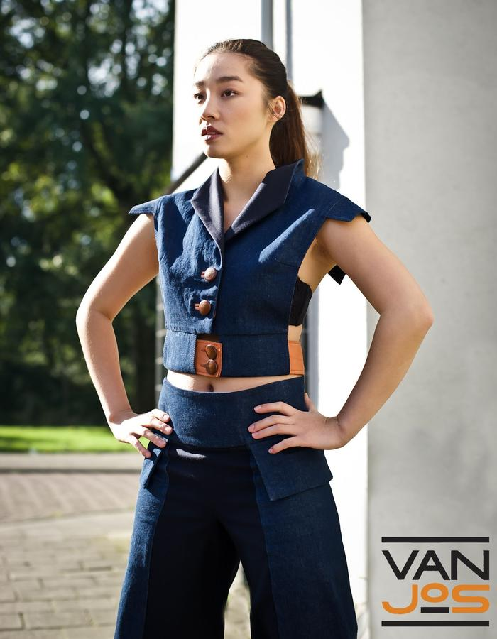 Van Jos womens business wear Amsterdam - little denim jacket