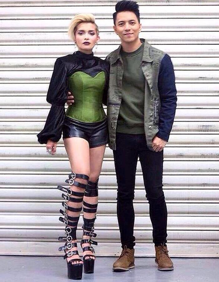 PHILIPPINE'S SOUL SUPREME - KZ TANDINGAN in THIAN RODRIGUEZ velevt puff sleeves top.