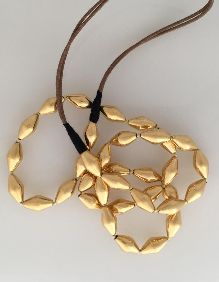 Classic 22k Gold Bead Necklace