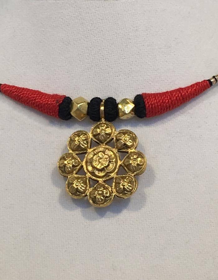 Navaratna Pendant Necklace - reverse