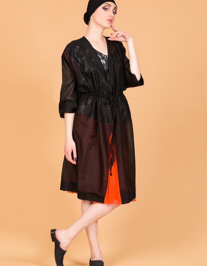 veil silk kimono