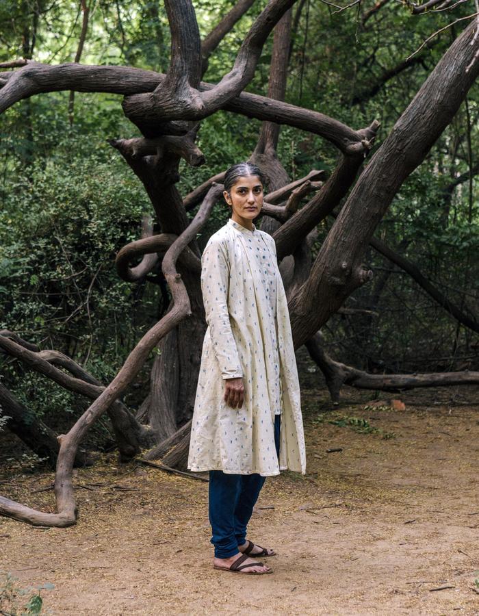 Khadi,blockprint,kurta,handwoven,handspun,natural dye