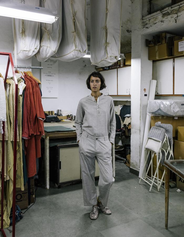 space dyed,khadi,handowoven,handspun.shirt,pants,