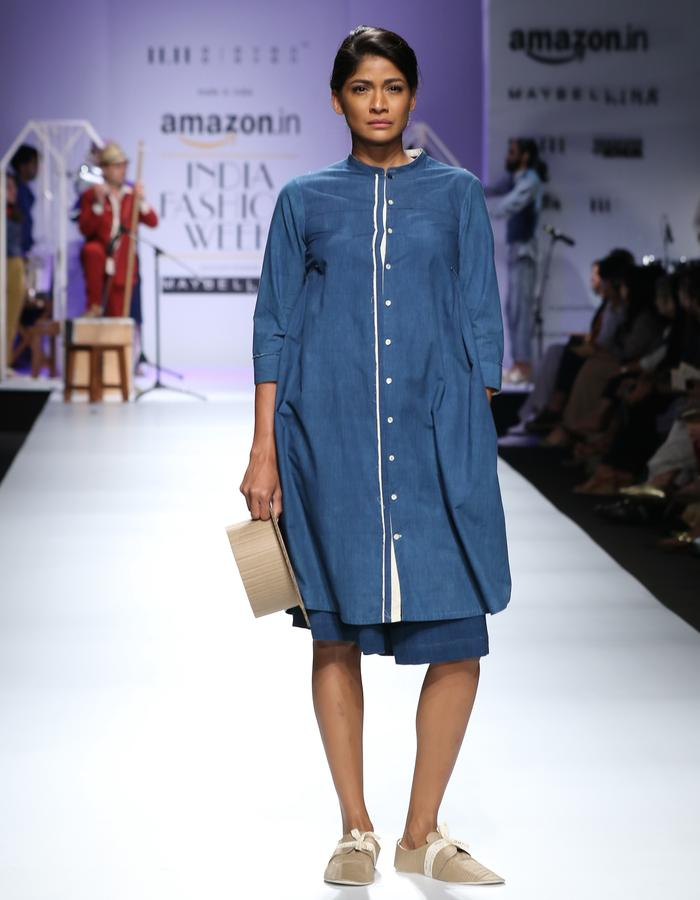 Khadi,kurta,handwoven,handspun,natural dye,indigo