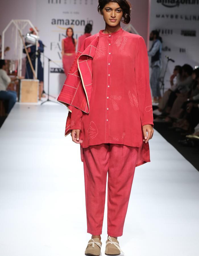 silk,shirt,bandhani,shibori,natural dye