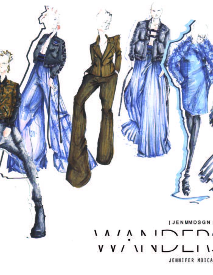 Illustrations /Fashion Design: Jennifer Moica