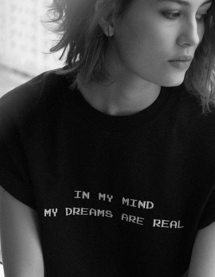 maison 1988 t-shirt in my mind  black tee Maison 1988 oversize t-shirt unisex