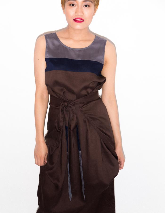 Upcycled wrap dress