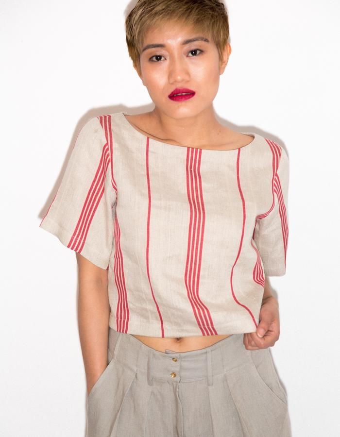 Upcycled crop top