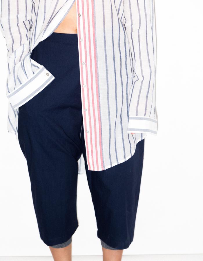 Stripe up-cycled shirt