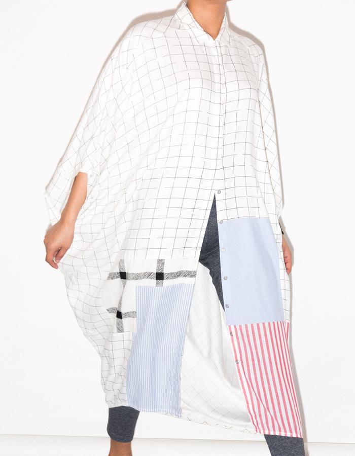 Oversized up-cycled shirtdress