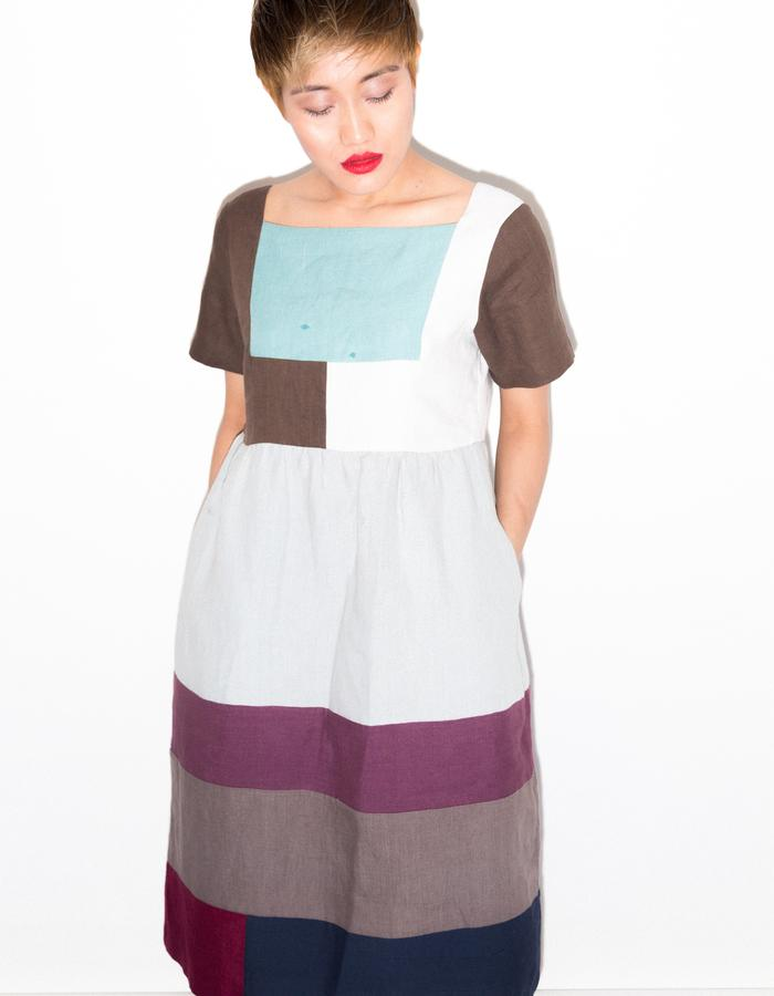 Up-cycled tunic with crop pant