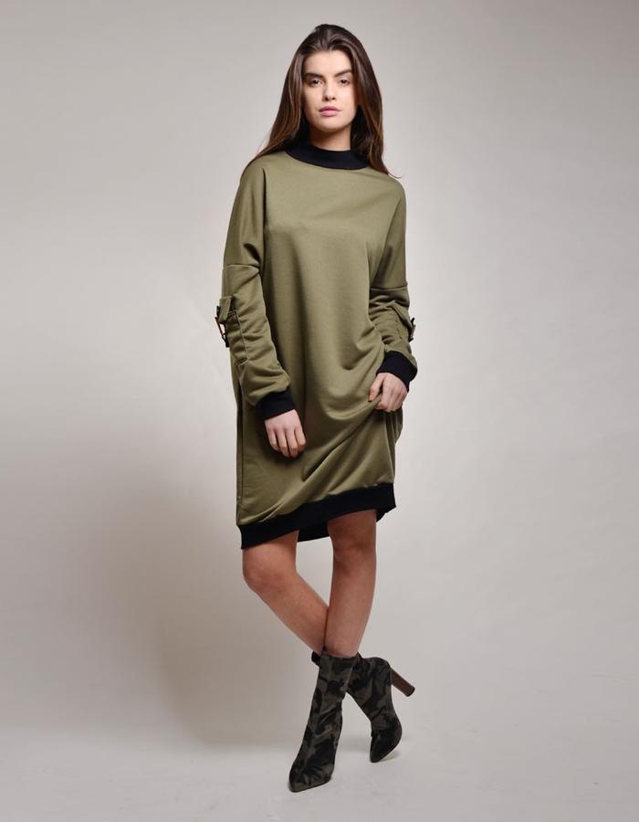 Drop Shoulder Sweatshirt Khaki