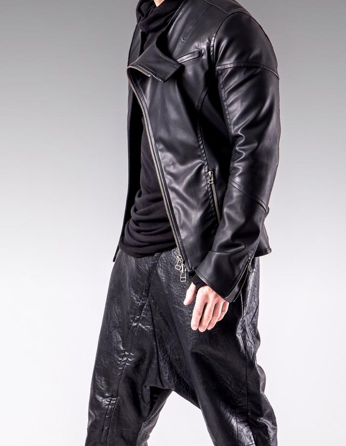 MEN'S TAILORED ZIPPERED LEATHER JACKET