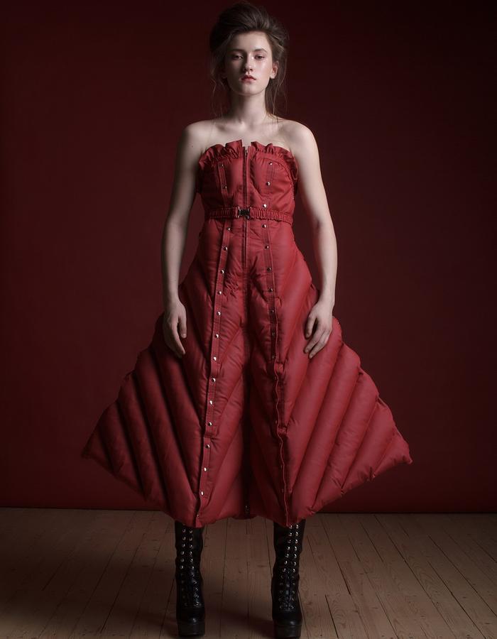 Olya Kosterina | Ruffle Puffer Elegant Half-Dress
