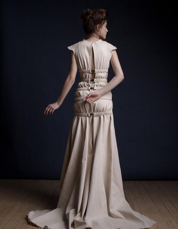 Olya Kosterina | Belt Denim Gown
