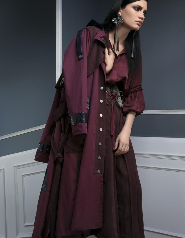 The Silk maxi dress and all weather Trench