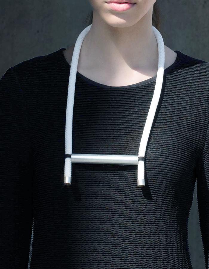 White Haarlem Necklace