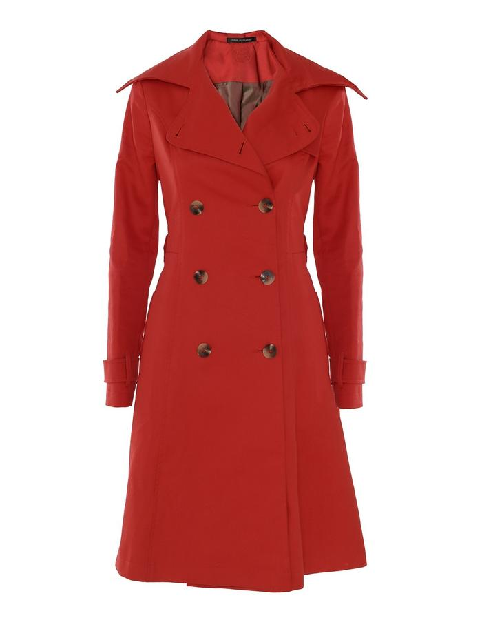 red kate trench front