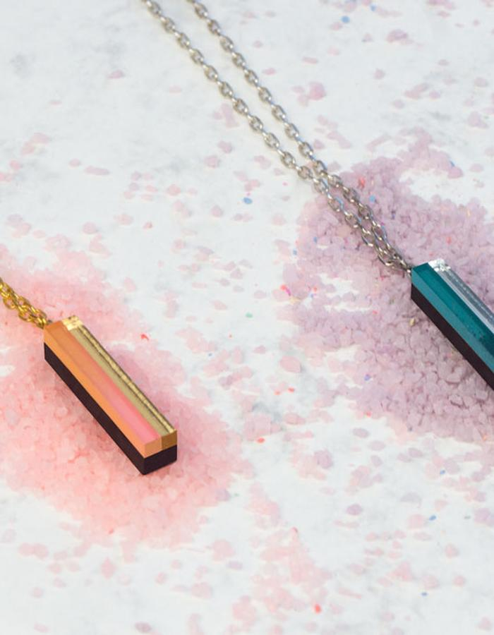 contemporary jewelry wood handmade minimal geometric