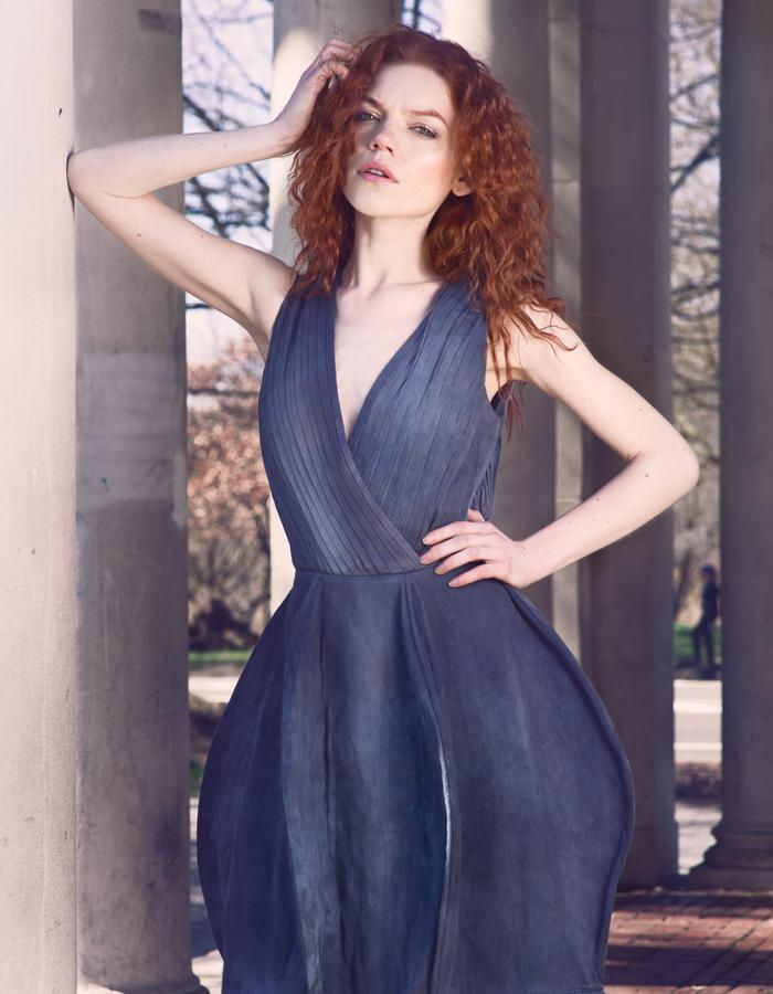 Look 2, Sustainable Eveningwear Modern Gown by Lina Mayorga