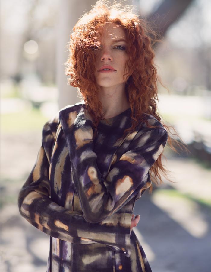 Look 4,Modern Naturally dyed Print Dress by Lina Mayorga