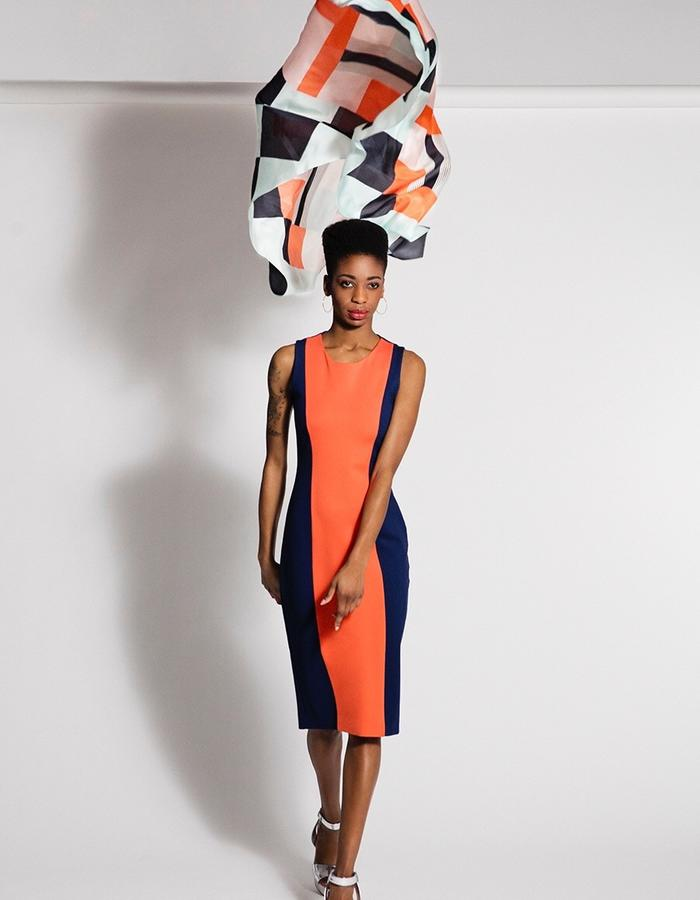 Friday dress, customised in bold colours