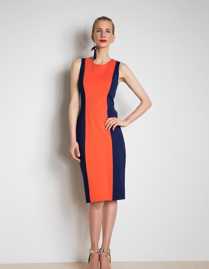 Friday dress customised in bold colours and sleeveless