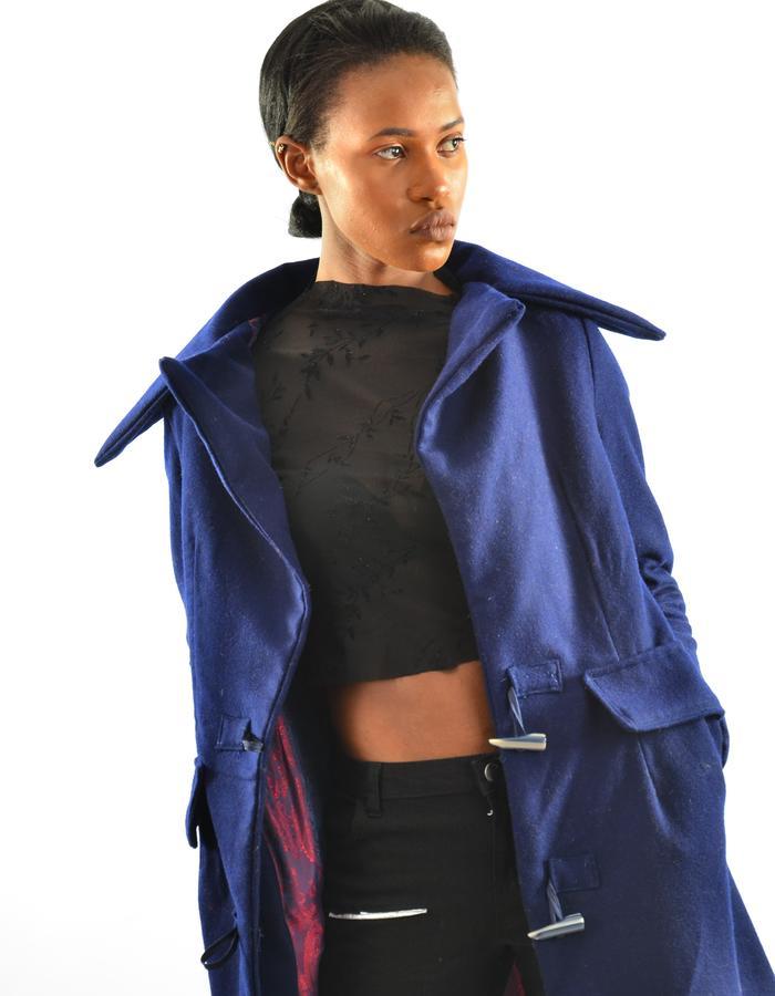 100 % long wool coat