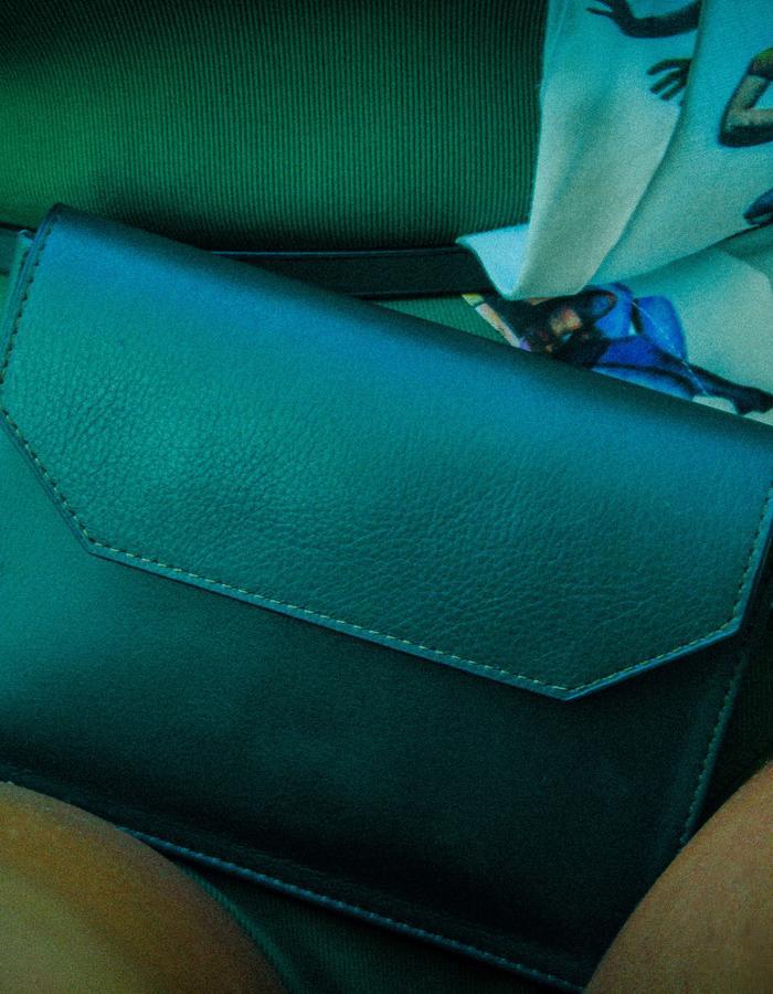 belt bag in Forest green