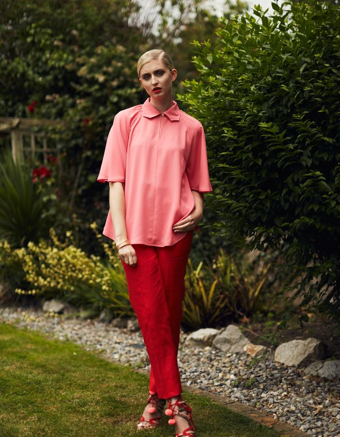 Zoe Carol Spring Summer Lily Red Trousers Zora Pink Blouse