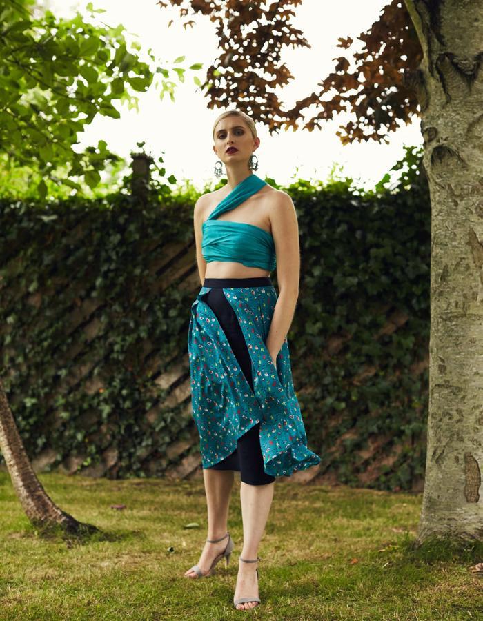 Zoe Carol Spring Summer Odette Navy Print Dress