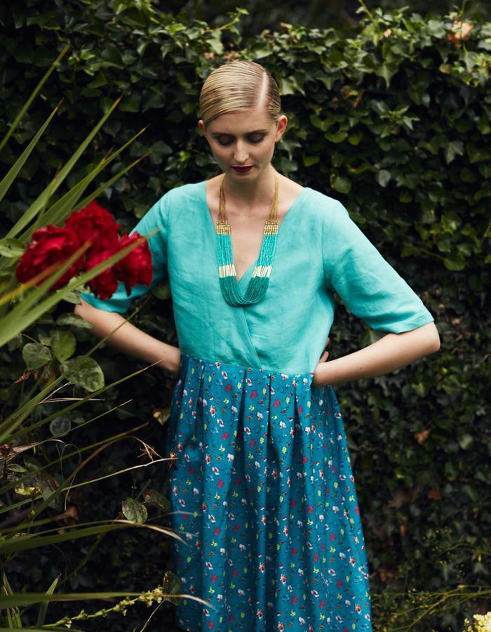 Zoe Carol Spring Summer Gabrielle Mint Green Print Dress