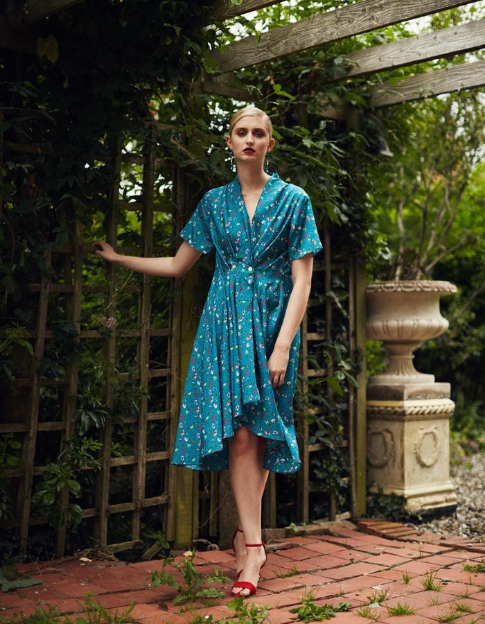 Zoe Carol Spring Summer Yolande Print Green Dress