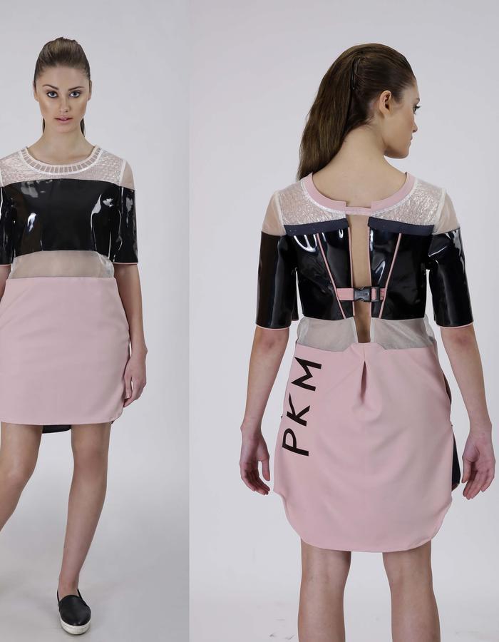 Bubble sheet upcycled dress