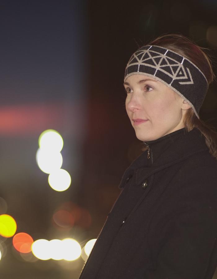 Reflective Headband, NYC Edition Brompton X Vespertine