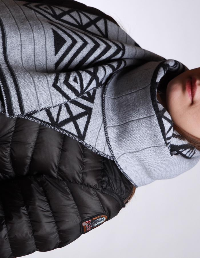 Merino Wool Hat and Scarf with Reflective Stripes, NYC Edition Brompton X Vespertine