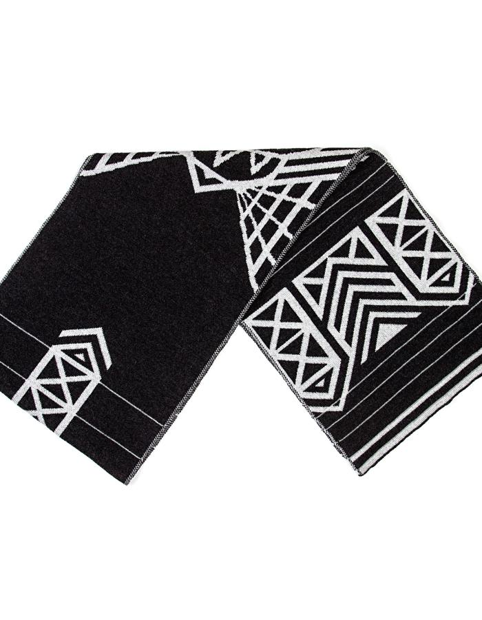 Merino Wool Scarf with Reflective Stripes, NYC Edition Brompton X Vespertine
