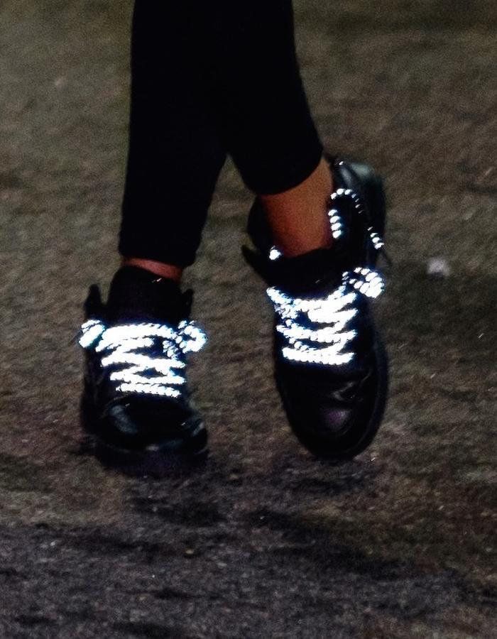 Reflective Shoelaces, NYC Edition Brompton X Vespertine