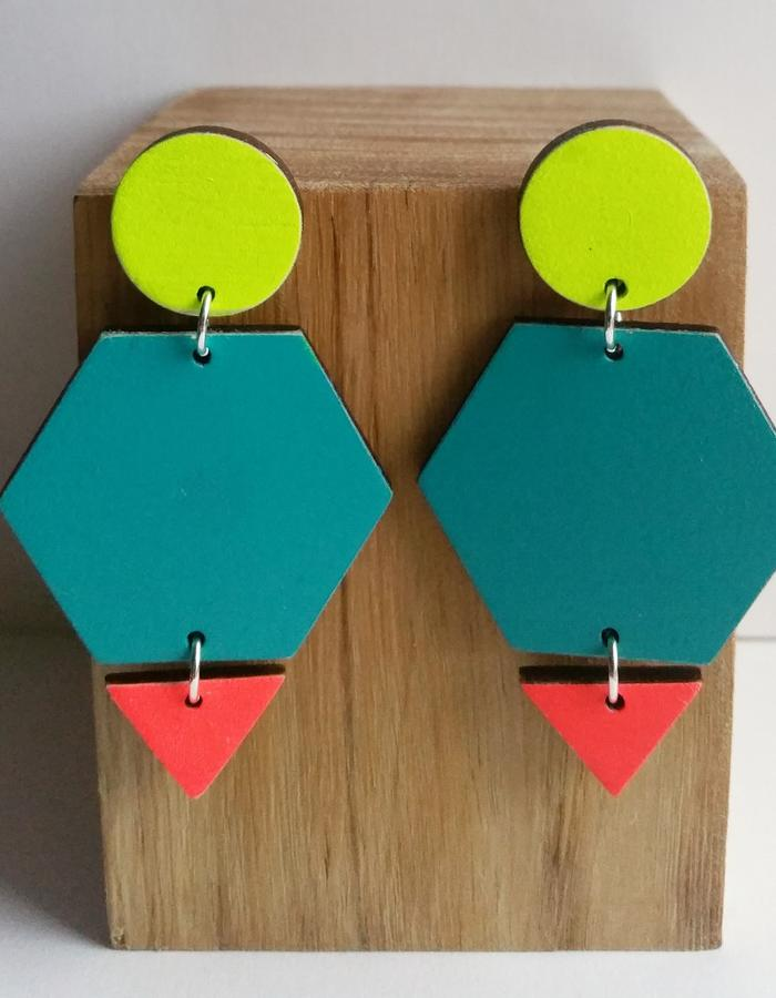 Guise Earrings | Teal