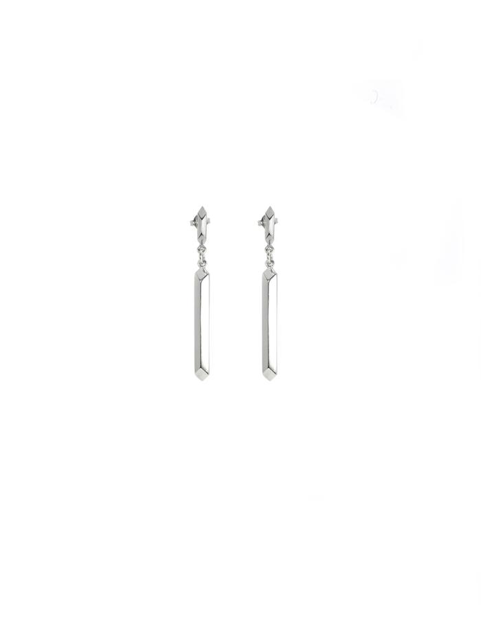 Duo Pillar Studs in Sterling Silver