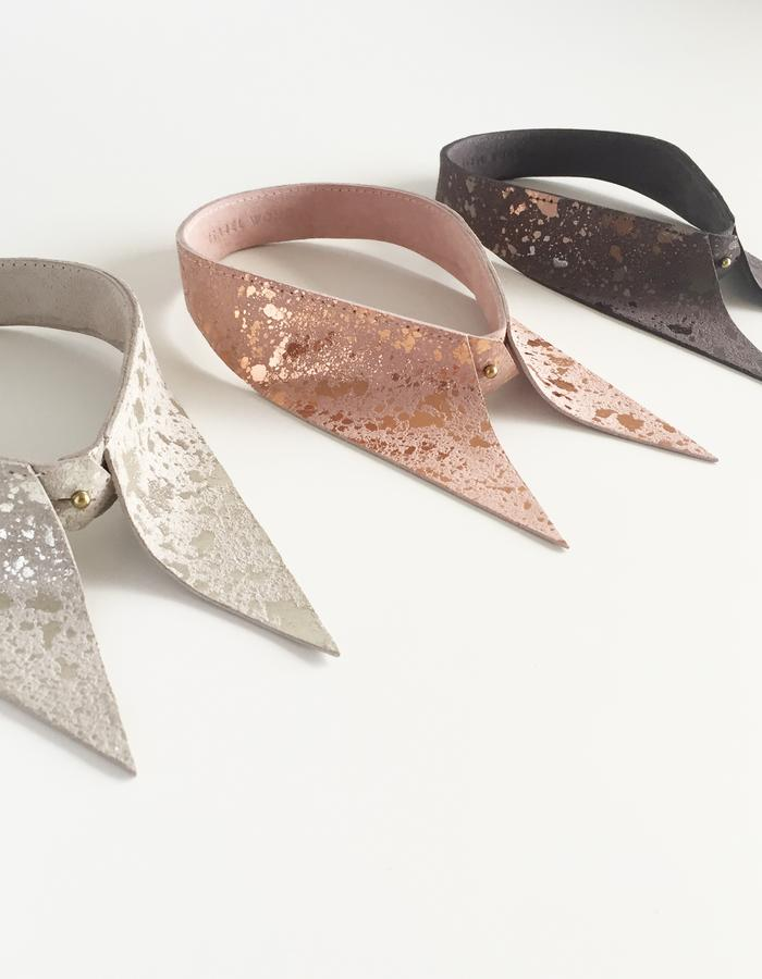 Isabel Wong Omega Collection Leather Collars