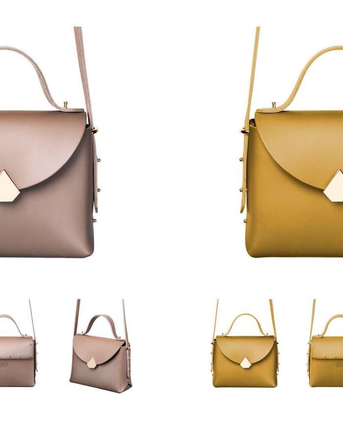 Baggy Bag Taupe & Yellow