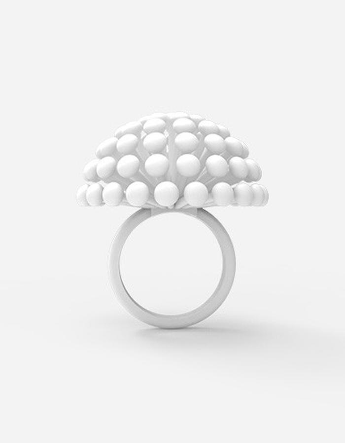Dandelion Ring • White