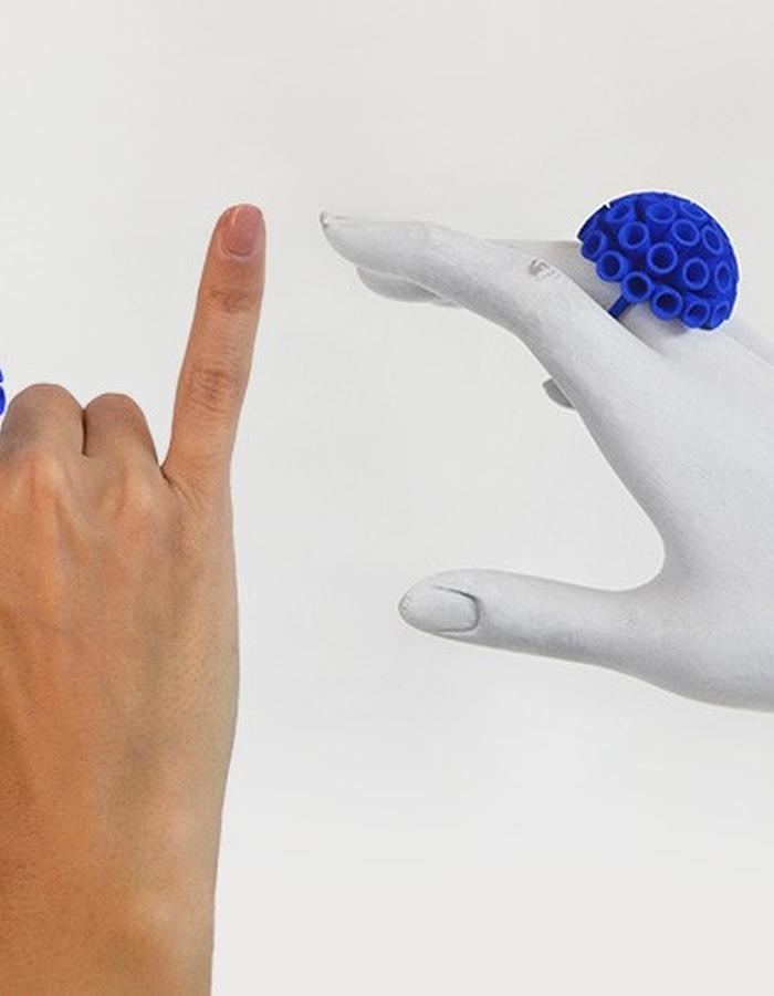 POMPON Ring • Blue