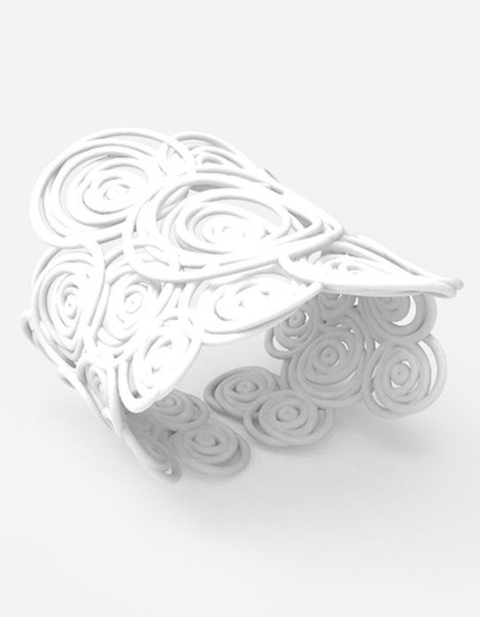 HULA HOOP Bracelet BIG • White